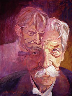 Painting - Albert Schweitzer Portrait by David Lloyd Glover