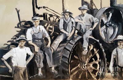 Painting - Albert Teske Farm, Circa 1900 by Shelley Koopmann