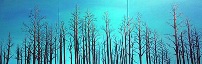 Painting - Alberta Blue Triptych by Joanne Giesbrecht