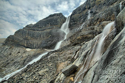 Photograph - Alberta Bow Glacier Falls by Adam Jewell