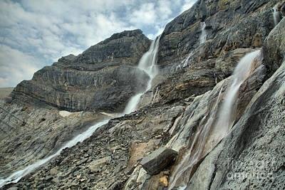 Photograph - Alberta Bow Glacier Falls by Adam Jewell