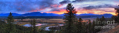 Photograph - Alberta Columbia Wetlands Sunset Panorama by Adam Jewell
