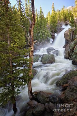 Photograph - Alberta Falls In Rocky Mountain National Park by Ronda Kimbrow