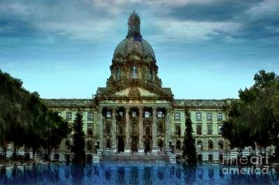 Painting - Alberta Legislature by Tlynn Brentnall