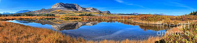 Chief Joseph Photograph - Alberta Mountain Reflections Panorama by Adam Jewell