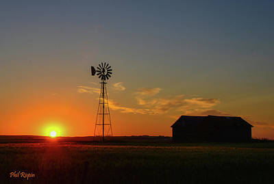 Photograph - Alberta Prairie Sunset by Philip Rispin