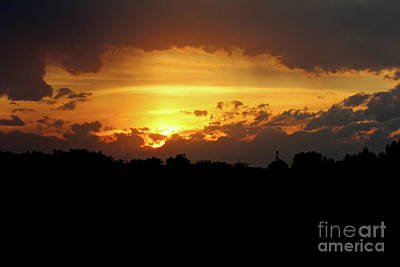 Photograph - Alberta Sunset by Ann E Robson