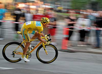 Bicycle Racing Photograph - Alberto Contador Speed by Odd Jeppesen