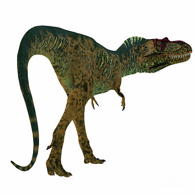 Albertosaurus Digital Art - Albertosaurus Dinosaur Tail by Corey Ford