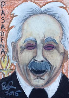 Einstein Drawing - Albert Einstein by Regina Jeffers