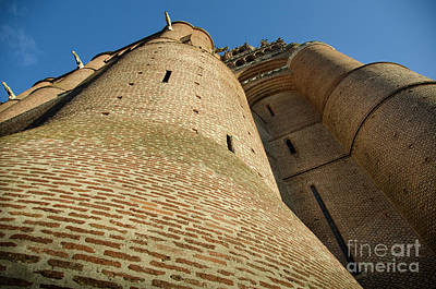 Albi Cathedral Low Angle Art Print by RicardMN Photography