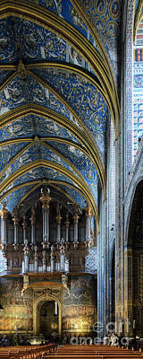 Albi Cathedral Nave Art Print by RicardMN Photography