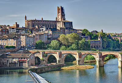 Photograph - Albi France Cathedral by Alan Toepfer