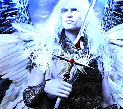 Angel Painting - Albino Angel 2 by Suzanne Silvir