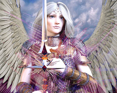 Digital Art - Albino Angel4 by Suzanne Silvir