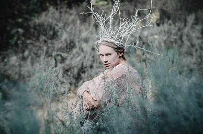 Photograph - Albino In The Forest 1. Prickle Tenderness by Inna Mosina