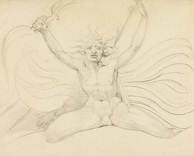 Blake Drawing - Albion Compelling The Four Zoas To Their Proper Tasks by William Blake