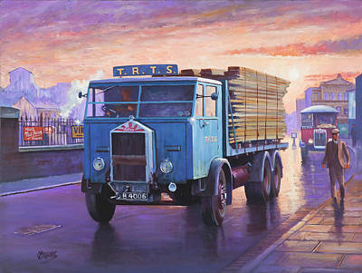 Painting - Albion Six-wheeler 1938 by Mike Jeffries