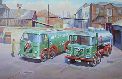 Painting - Albion Sugar Fodens At Rochester by Mike Jeffries