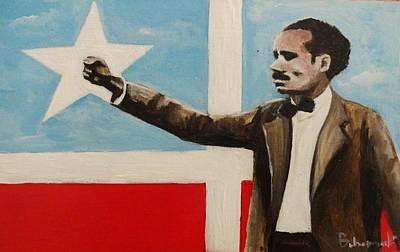 Puerto Rico Painting - Albizu by Migdalia Bahamundi
