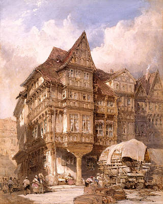 William Callow Drawing - Albrecht Duerer's House At Nuremberg by William Callow