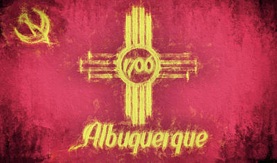 Digital Art - Albuquerque City Flag by JC Findley