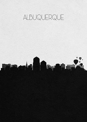 Mixed Media - Albuquerque Cityscape Art by Inspirowl Design