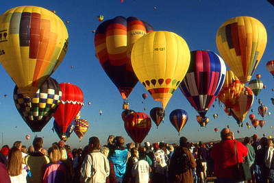Photograph - Albuquerque Hot Air Balloon Festival - Mass Ascension by Art America Gallery Peter Potter