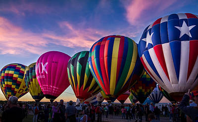 Photograph - Albuquerque Hot Air Balloon Fiesta by Ron Pate
