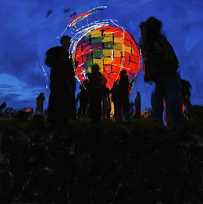 New Orleans Oil Painting - Albuquerque International Balloon Fiesta 251 1 by Mawra Tahreem