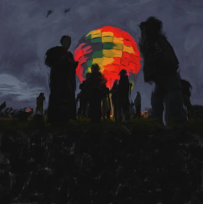 New Orleans Oil Painting - Albuquerque International Balloon Fiesta 251 2 by Mawra Tahreem