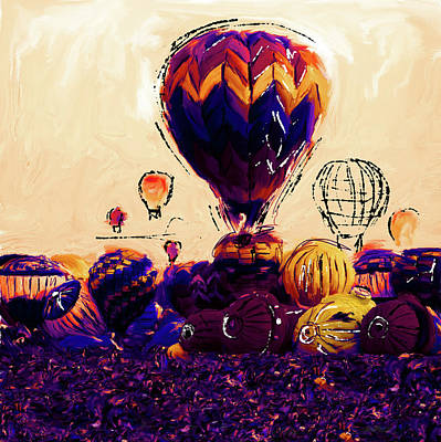 New Orleans Oil Painting - Albuquerque International Balloon Fiesta 252 2 by Mawra Tahreem
