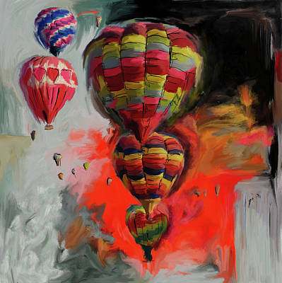 Fiesta Painting - Albuquerque International Balloon Fiesta 4 255 1 by Mawra Tahreem
