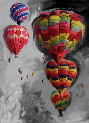 Fiesta Painting - Albuquerque International Balloon Fiesta 4 255 4 by Mawra Tahreem
