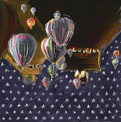 Fiesta Painting - Albuquerque International Balloon Fiesta 5 256 3 by Mawra Tahreem