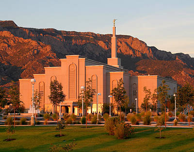 Photograph - Albuquerque Lds Temple At Sunset 1 by Marie Leslie