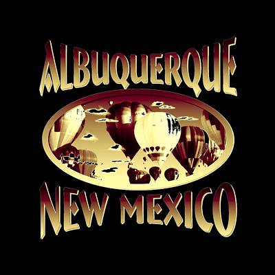 Mixed Media - Albuquerque New Mexico Design by Peter Potter