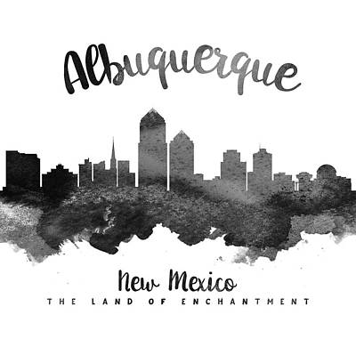 Albuquerque New Mexico Painting - Albuquerque New Mexico Skyline 18 by Aged Pixel