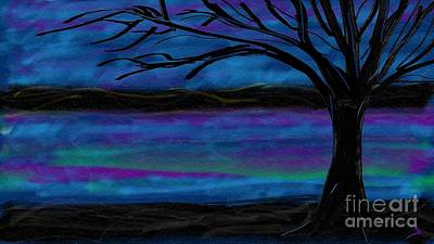 Digital Art - Albuquerque Night by Jenny Revitz Soper