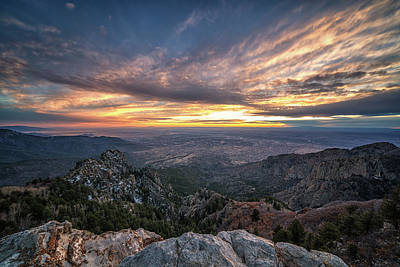 Photograph - Albuquerque Sunset by Framing Places