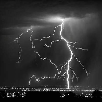 Photograph - Albuquerque Thunderstorm by Alan Toepfer
