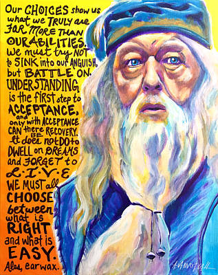Dumbledore Painting - Albus by Alicia VanNoy Call