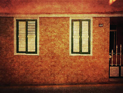 Photograph - Alcala, Orange House by Anne Kotan