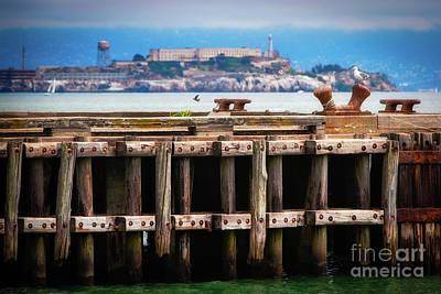 Alcatraz Photograph - Alcatraz Beyond The Pier by Doug Sturgess