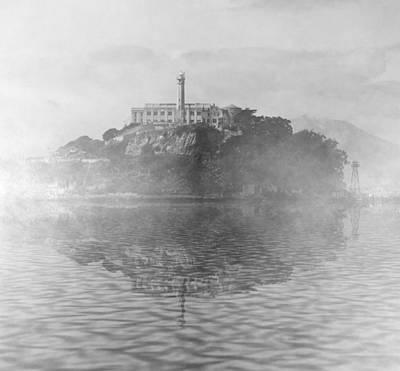 Bay Area Digital Art - Alcatraz Fog by Michael Bergman