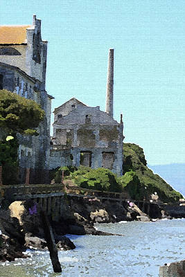 Photograph - Alcatraz Island - Palette Knife by Lou Ford