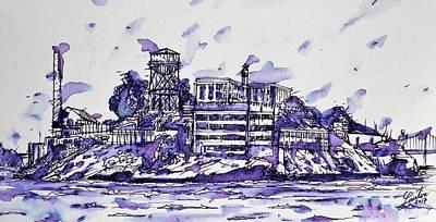 Painting - Alcatraz Island by Fabrizio Cassetta
