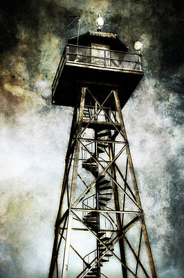 Alcatraz Photograph - Alcatraz Island Guard Watchtower  by Jennifer Rondinelli Reilly - Fine Art Photography