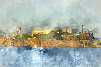 Alcatraz Island In San Francisco California Art Print