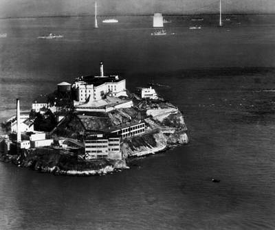 Ev-in Photograph - Alcatraz Island, San Francisco, While by Everett